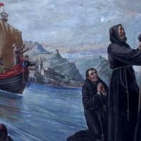 San Francesco da Paola e l'attraversamento dello Stretto sul mantello