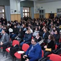 Il Sen. Morra, Presidente della Commissione Parlamentare Antimafia, incontra i giovani del liceo Vinci