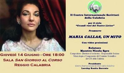 Il Cis della Calabria propone Maria Callas, un mito