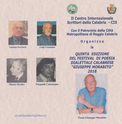 Foto manifesto - Quinta edizione Festival di poesia dialettale calabrese