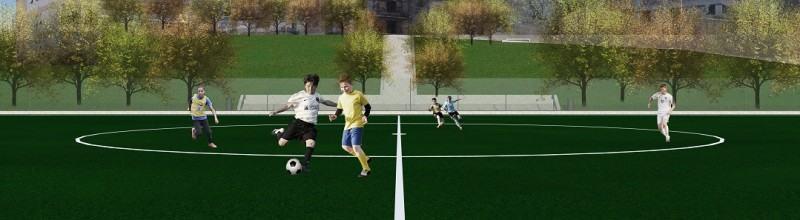 campo di calcio condera