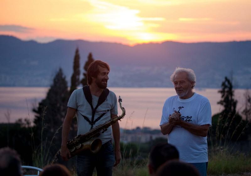 Francesco Berzatti, sassofonista, e Giovanni Laganà, direttore artistico Ecojazz