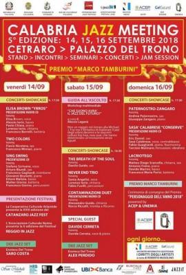 Locandina Calabria Jazz Meeting light