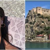 Ashley Graham, la modella curvy più famosa al mondo, in vacanza a Scilla - FOTO