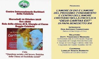 Foto manifesto - Enciclica - Deu est caritas di Papa Benedetto XVI