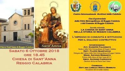 Foto manifesto - La chiesa Sant'Anna nella storia di RC