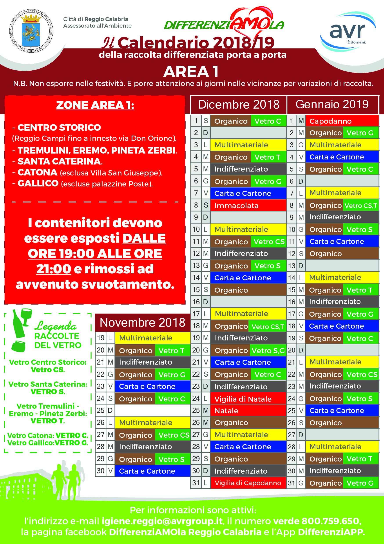 Calendario Concerti Calabria.Differenziata Porta A Porta Nuove Variazioni Nei Calendari