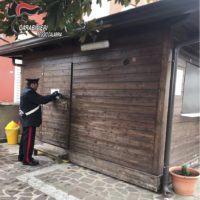 Melicuccà, i Carabinieri emettono la chiusura temporanea di un chiosco