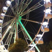 Reggio, prove di illuminazione della ruota panoramica – FOTO