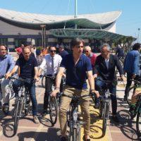 Inaugurazione bike sharing Falcomatà:
