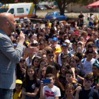 Bagno di folla al Motorshow di Reggio Calabria per l'inviato di Striscia Luca Abete - FOTO