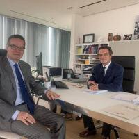 Attilio Fontana riceve Klaus Davi: 'Ama il Sud e la Calabria'