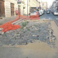 Reggio, lavori bloccati vicino piazza Italia: a quando la conclusione? – FOTO