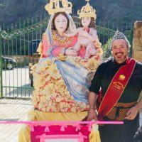 Polsi, l'originale omaggio di un pizzaiolo reggino alla Madonna
