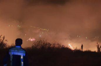 Reggio in fiamme: il video dell'incendio