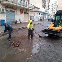 Reggio - Maltempo, squadre ditta Castore a lavoro