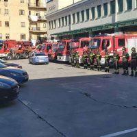Calabria, Polizia e Carabinieri vicino ai Vigili del fuoco nel giorno dei funerali - FOTO