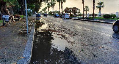 Reggio Calabria pioggia Lungomare