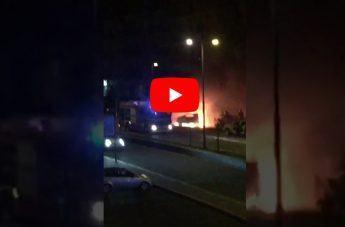 Auto in fiamme a Reggio: l'intervento dei Vigili del Fuoco