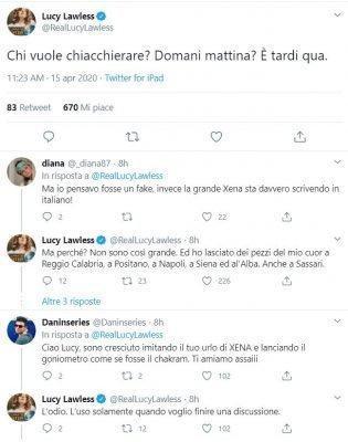 , Xena twitta con i fan in italiano: 'Ho lasciato pezzi di cuore a Reggio Calabria'