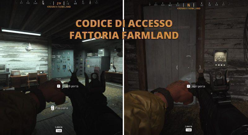 Codice Accesso Fattoria Farmland Warzone
