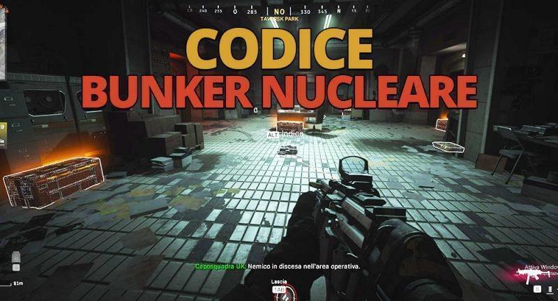 Warzone Codice Bunker Nucleare F8 della zona Parco