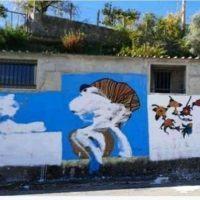 Riace, imbrattato il murales in memoria di Peppino Impastato