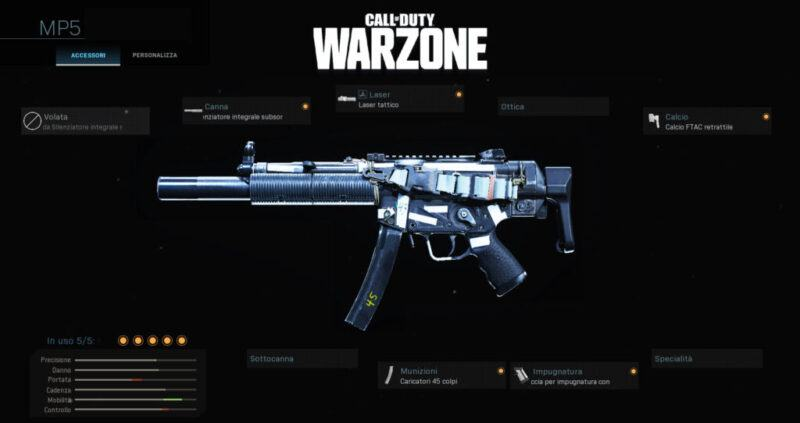 Warzone Miglior Setup MP5 Multiplayer Cod