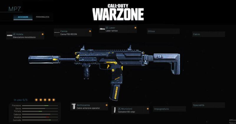 Warzone Miglior Setup MP7 Battle Royale Cod