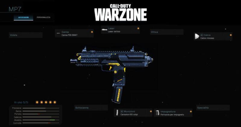 Warzone Miglior Setup MP7 Multiplayer Cod