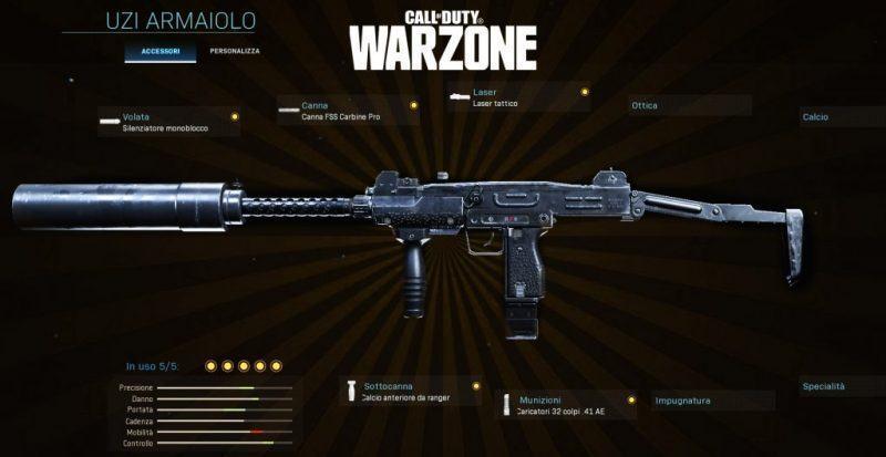 Warzone miglior setup Uzi Battle Royale CoD