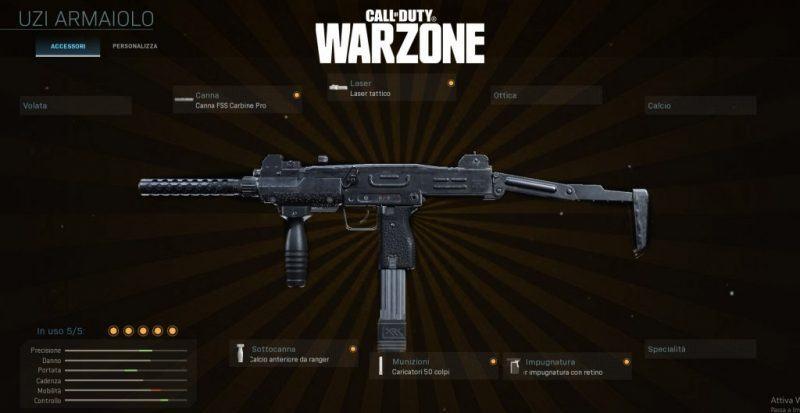 Warzone miglior setup Uzi Multigiocatore CoD