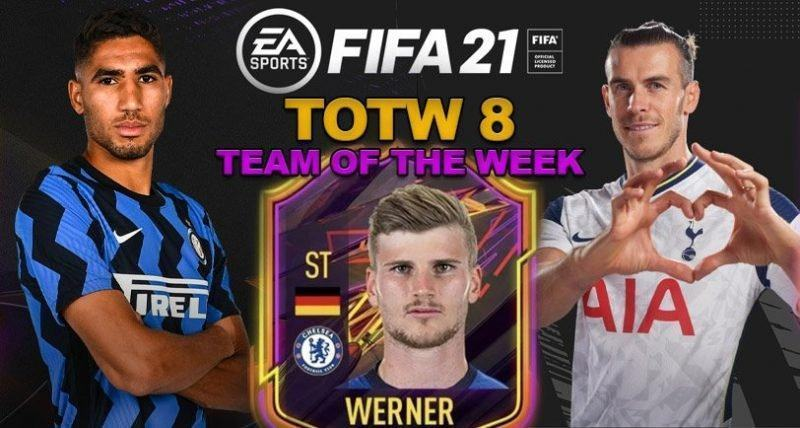 Fifa 21 Totw8 Prediction Hakimi Werner Bale