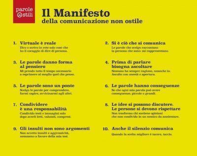 Manifesto Comunicazione Ostile