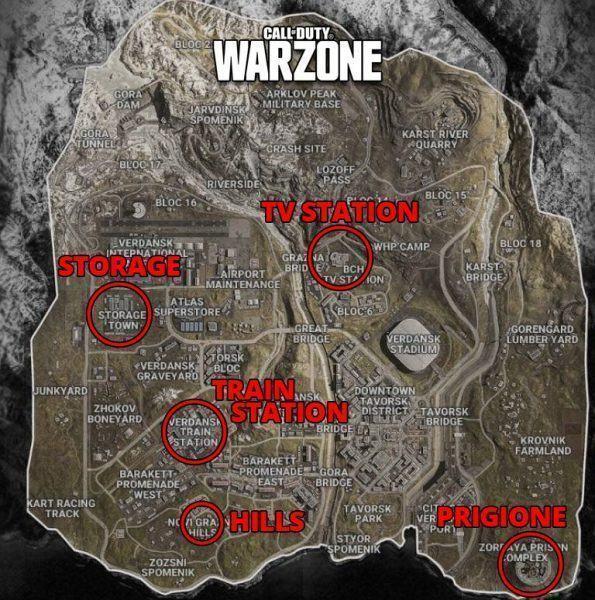 Mappa dove scendere Warzone CoD