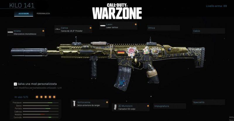 miglior setup kilo 141 warzone cod