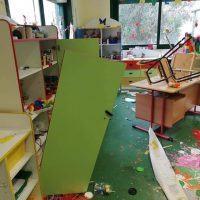 Reggio, distrutta una scuola d'infanzia. Marra: 'Vigliacchi, balordi senza dignità' - FOTO