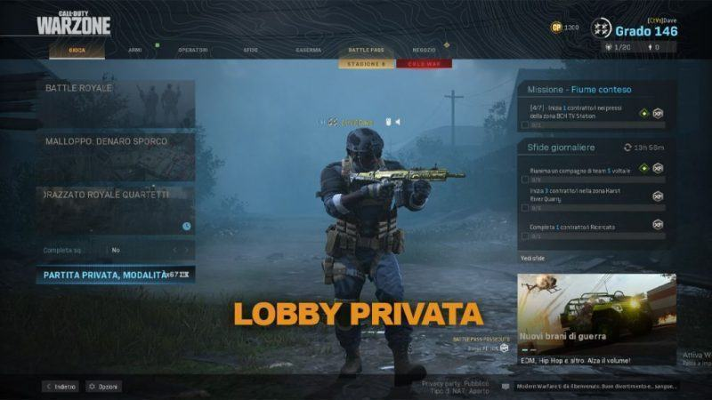 Warzone Come Creare Partita Privata Battle Royale Malloppo Cod Modern Warfare