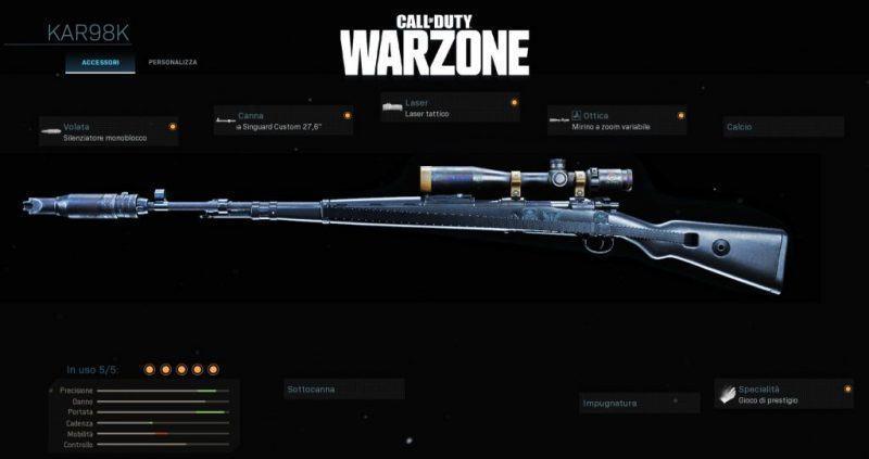 Warzone Miglior Setup Kar98k Battle Royale Cod
