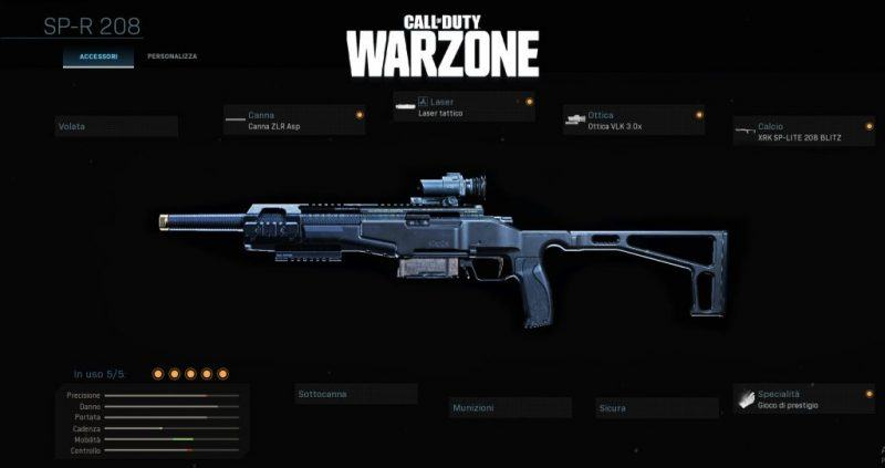 Warzone Miglior Setup SP-R 208 Multiplayer Cod