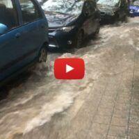 Maltempo Reggio: nubifragio e traffico rallentato