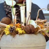 Orchidea Staff, quando il lavoro diventa magia: come preparare un centrotavola rustico