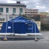 Emergenza Covid a Reggio, la situazione drive-in: tenda chiusa a Pellaro - FOTO