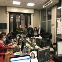 Covid, il consigliere Giannetta in visita all'unità di crisi interforze della Prefettura