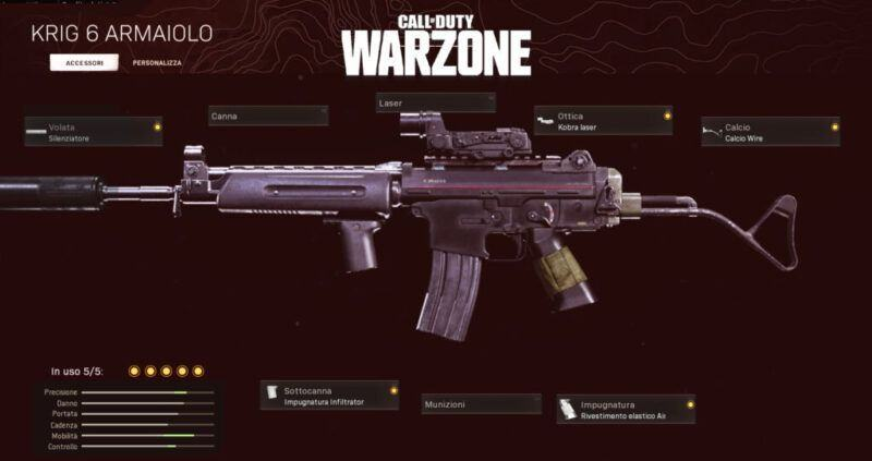 Warzone Miglior Setup Krig 6 Battle Royale Rebirth Island Cod