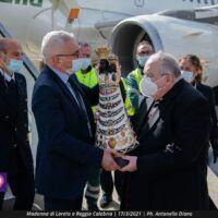 Reggio, all'aeroporto Tito Minniti la Madonna di Loreto - FOTO