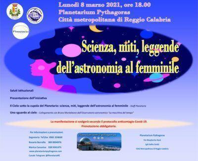Planetario Locandina 8 Marzo 2021