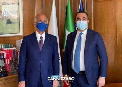 Onorevole Francesco Cannizzaro Presidente ACI Angelo Sticchi Damiani