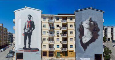 Murales 25 Aprile Reggio Calabria Malerba Teresa Gullace