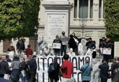 Protesta Imprenditori Liberi Uniti Reggio Calabria 10